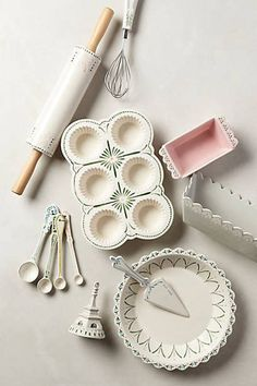 Maelle Baking set from Anthropologie. This is my new baking set for my kitchen. Kitchen Supplies, Kitchen Items, Kitchen Utensils, Kitchen Tools, Kitchen Gadgets, Kitchen Decor, Kitchen Design, Cute Kitchen, Pantry Design
