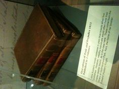 First edition of Jane Austen's Pride and Prejudice on display at the Jane Austen House Museum in Chawton, Hampshire, UK. This year, 2013, is the novel's 200th anniversary.