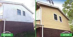 This home's exterior was pretty old, worn and damaged in various areas. We did a complete tear down of the old siding and replaced with with brand new James Hardie siding and trim.  Before & after pictures: newly installed James Hardie siding and trim. http://www.prohome1.com/en/gallery/before-after-pictures.html