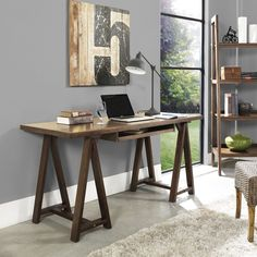 Get productive with home office furniture and decor from Home Decorators Collection. Our home office ideas will have you up and running in no time. Wood Office Desk, Office Nook, Home Office Space, Home Office Desks, Home Office Furniture, Office Decor, Office Ideas, Desk Ideas, Basement Office