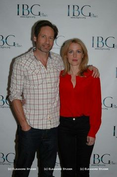 David Duchovny and Gillian Anderson at IBG Event July 2011