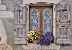 Window & Flowers by gageou (by B. Candleforth)