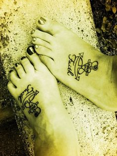 Awesome Awesome Foot And Flip Flop Tattoo Designs