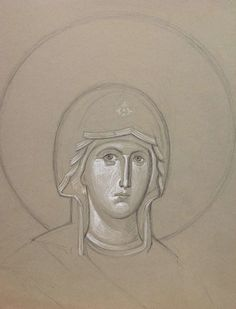 A Surpassing Gentleness: An Interview with Iconographer Ann Margitich – Orthodox Arts Journal Byzantine Icons, Byzantine Art, Religious Pictures, Religious Icons, Christian Drawings, Lives Of The Saints, Fashion Painting, Painting Process, Orthodox Icons