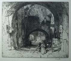 """Hedley Fitton, """"Via dei Girolami, Florence"""""""