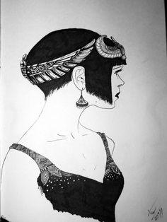 Art Deco Fashion - Egyptian by on deviantART Ancient Egypt Fashion, Egyptian Fashion, 20s Fashion, Art Deco Fashion, Egyptian Party, Art Deco Illustration, Egypt Art, Flapper Style, Design Elements