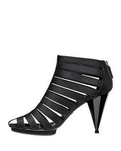 Gucci Isadora Elastic Cage Bootie, Black - Neiman Marcus