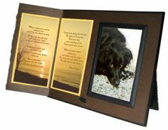 """Pet Lover Remembrance Gift, """"When Tomorrow Starts Without Me"""" Poem, Memorial Pet Loss Picture Frame Keepsake and Sympathy Gift Package, Rich..."""