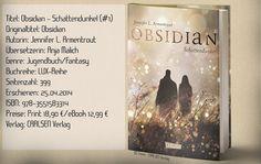 """""""Obsidian - Schattendunkel"""" ist der erste Teil der Lux-Reihe und beeindruckte mich mit einer Mischung aus paranormalem Fantasy, Aktion und prickelnder Romantik. Eine absolute Leseempfehlung! ~ paranormale Romantasy ~ romantisch ~ spannend ~ unterhaltsam"""