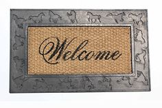 BOOT SCRAPER HORSE ENGRAVED COCO DOOR MAT NATURAL COIR AND RUBBER SIZE 18 X30 ** Read more at the image link.-It is an affiliate link to Amazon. #Doormats Coir, Outdoor Doormats, Image Link, Rubber, Lawn, Horse, Patio, Amazon, Natural
