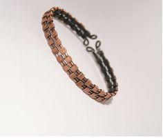 Mens cuff bracelet wire wrapped jewelry handmade copper bracelet gift for man copper jewelry cuff bracelet