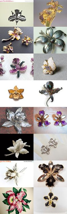 Orchids in bloom - Vintage Vogueteam Treasury by Cleaver White on Etsy--Pinned with TreasuryPin.com