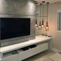New Wall Decored Living Room Decoration Tvs Ideas Tv Cabinet Design, Tv Wall Design, Bathroom Design Luxury, Home Interior Design, Tv Wanddekor, Modern Tv Wall Units, Tv Unit Furniture, Snug Room, Living Room Tv Unit Designs