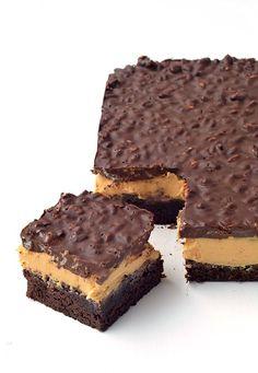 Peanut Butter Chocolate Brownie Crunch Bars   via sweetestmenu.com