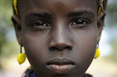 Ethiopia, Omo Valley - Young girl from the Dassanech Tribe - a ...
