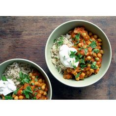 Chick Pea Curry with Coriander and Yoghurt - Real Recipes from Mums