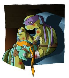 TMNT - Donatello Hamato x Michelangelo Hamato - Tcest Tmnt Human, Tmnt Mikey, Tmnt Comics, Tmnt 2012, Teenage Mutant Ninja Turtles, Fan Art, Couch, Deviantart, Anime