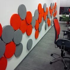 Fluffo Dots - soft, acoustic wall panels