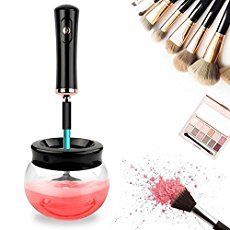 Salo Beauty makeup brush cleaner kit-professional hypoallergenic cosmetic set-portable rotating automatic electric spinning cleaner-handheld spindle device great for washing and drying makeup brushes