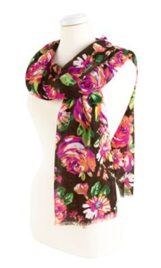 """Vera Bradley Accent Scarf in English Rose, $40 