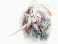 Unicorn Art Print by - X-Small Unicorn Horse, Unicorn Art, Magical Unicorn, Unicorn Painting, Unicorn Drawing, Magical Creatures, Fantasy Creatures, Unicorns, Unicorn Pictures