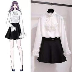 Gorgeous Clothes for korean fashion trends 125 Kpop Fashion Outfits, Korean Outfits, Mode Outfits, Dress Outfits, Kawaii Fashion, Cute Fashion, Girl Fashion, Fashion Ideas, Fashion Drawing Dresses