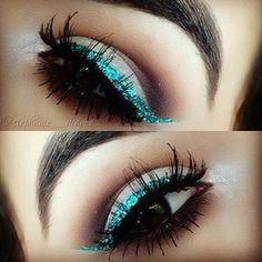 I think I should try glitter eyeliner