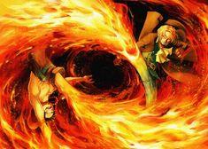 Metal Poster One Piece Portgas D Ace Sa