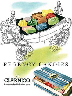 1957 Clarnico Regency Candies ad