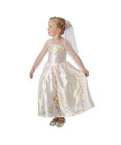 Бежевое платье Золушки с прозрачным рукавами и цветочным принтом. Образ дополняет гребень с фатой, длина фаты 23 см. Купить в интернет-магазине http://fas.st/aPiFD