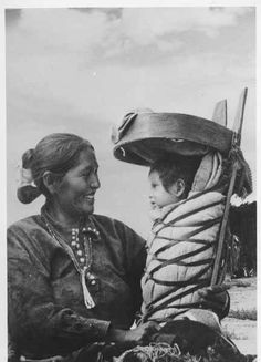 Ca 1910 image of a Navajo mother and child by Frasher. Palace of the Governors Photo Archives 075001.