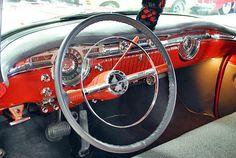 1955 Oldsmobile 88 Hardtop Steering Wheel View