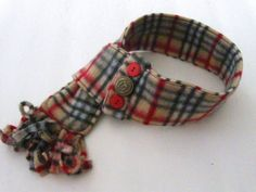 Tan Plaid Dog ScARF. $35.00, via Etsy. - i want this for lilly!!!