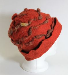 Felted Hat With a Unique Design OOAK by mgotovac on Etsy