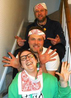 WE'RE WEARING OUR BANDANAS BECAUSE Sam was 14 when his dad was diagnosed with a brain tumour. Surviving it has made them both stronger  ~  Gary, Sam & Faith