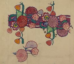 Textile design: stylised chrysanthemums 1915-23  © The Hunterian Museum and Art Gallery, University of Glasgow 2013