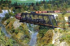 Model Railroad Wordless Wednesday Images: Jim O'Connell - Two Steamers Z Scale