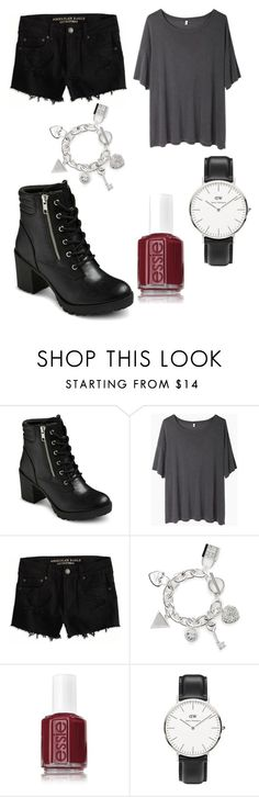 """"""""""" by xyoumakemesmilex ❤ liked on Polyvore featuring EASTON, R13, American Eagle Outfitters, GUESS, Essie and Daniel Wellington"""