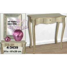 Consola recibidor clásico champagne. Consolas para decorar el recibidor en Nuryba.com tu tienda de muebles y decoracion online