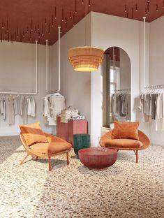 Hallelujah on Behance - New Deko Sites Showroom Interior Design, Retail Interior, Cafe Interior, Showroom Ideas, Boutique Design, Boutique Ideas, Schönheitssalon Design, Layout Design, Design Ideas