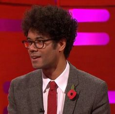 Richard Ayoade on Graham Norton Show Richard Ayoade, Norton Show, Nerd Love, Graham, Angel, Image, Angels