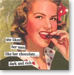 ...and preferably italian! (see products i love for my fave chocolate, poco dolce...mmm!)