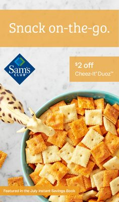 Shop Sam's Club for big savings on Instant Savings Book Camp Snacks, Road Trip Snacks, Vacation Snacks, Travel Snacks, Crockpot Recipes, Snack Recipes, Goat Cheese Recipes, Cheese Food, Appetizers For Kids