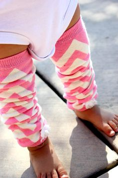 CANDY Pink CHEVRON Embellished BABY Girl Leg Warmers Newborn to Toddler on Etsy, $10.50