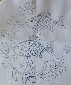 Kurti Embroidery Design, Embroidery Neck Designs, Floral Embroidery Patterns, Hand Embroidery Stitches, Applique Designs, Magam Work Designs, Plaster Crafts, Fish Coloring Page, Mexican Embroidery