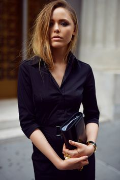 Black shirt dress Hugo Boss