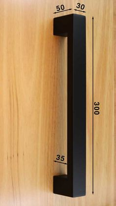 Black Pull Handle Set - For modern doors where you don't want a large pull handle. Ideal for interior doors, rear access doors and offices. House Main Door Design, Grill Door Design, Front Door Design, Gate Handles, Front Door Handles, Architecture 3d, Wardrobe Handles, Home Entrance Decor, Front Door Makeover