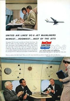 1959 United Airlines DC-8 Jet Mainliners Advert
