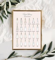 Royal Wedding Dresses Infographic Print Version 3In | Etsy