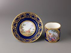 Jean Etienne Chabry | Cup and saucer | The Metropolitan Museum of Art